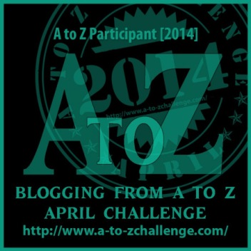 2014 A to Z Challenge Badge